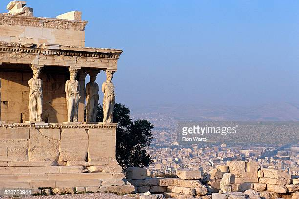 Carytids of Acropolis Overlooking Athens