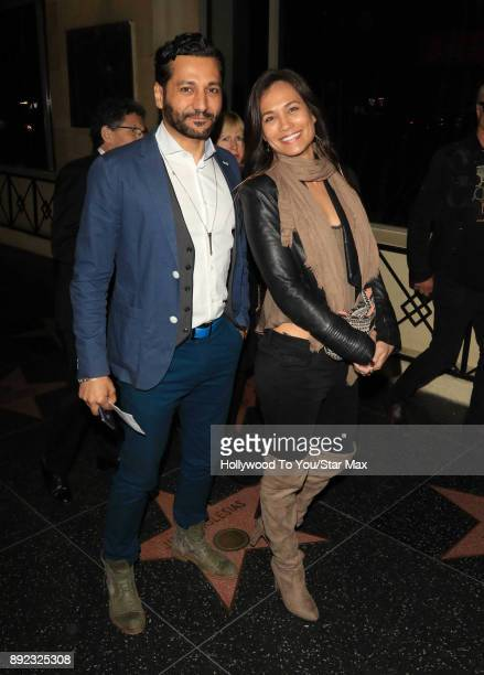 Cas Anvar and Nadine Nicole are seen on December 13 2017 in Los Angeles CA