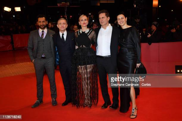 Cas Anvar Martin Freeman Diane Kruger Yuval Adler and his wife Aglika Dotcheva attend the The Operative premiere during the 69th Berlinale...