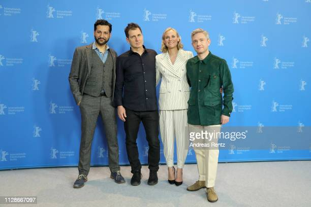 Cas Anvar Yuval Adler Diane Kruger and Martin Freeman pose at the The Operative photocall during the 69th Berlinale International Film Festival...