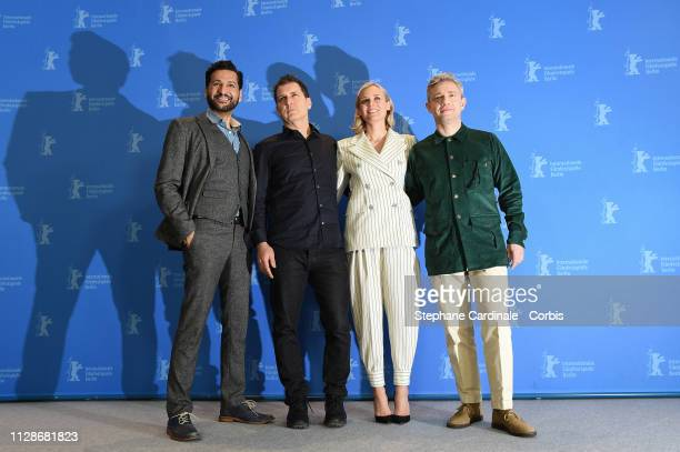 """Cas Anvar, Yuval Adler, Diane Kruger and Martin Freeman pose at the """"The Operative"""" photocall during the 69th Berlinale International Film Festival..."""