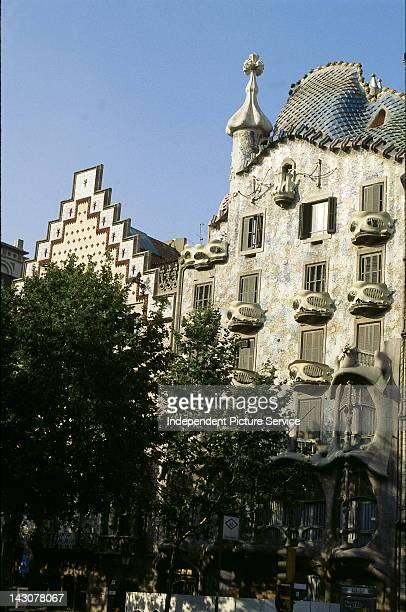 Casa Antoni Amatller by Cadafalch next to Gaudi's Casa Batllo on Manzana de Discordia in Barcelona Spain