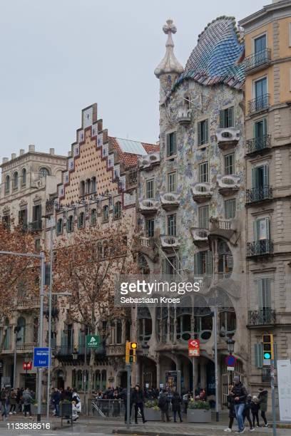 Casa Batlló and Casa Amatller, Barcelona, Spain