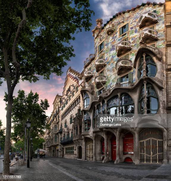 casa batlló in barcelona, spain - art nouveau stock pictures, royalty-free photos & images