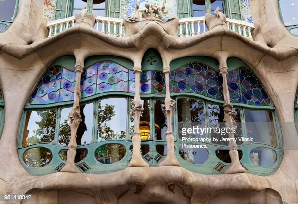 casa batllo, barcelona - art nouveau stock pictures, royalty-free photos & images