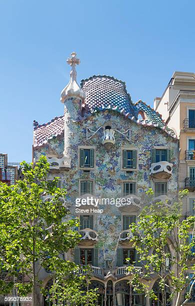 Casa Batllo, Barcelona, Spain, Europe - a famous Gaudi building
