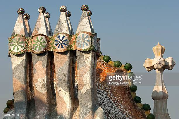 Casa Batllo Chimneys Against Sky