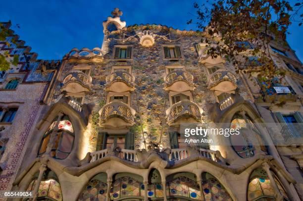 Casa Batllo Modernist house in Barcelona, Spain