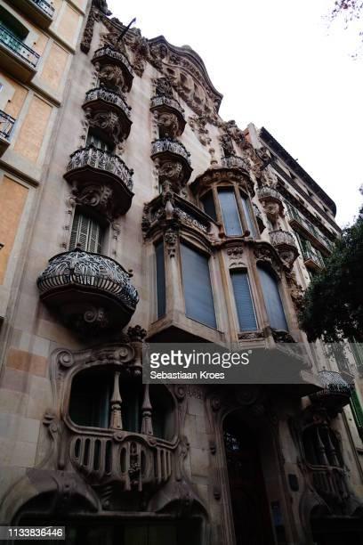 Casa Comalat, Facade, Barcelona, Spain