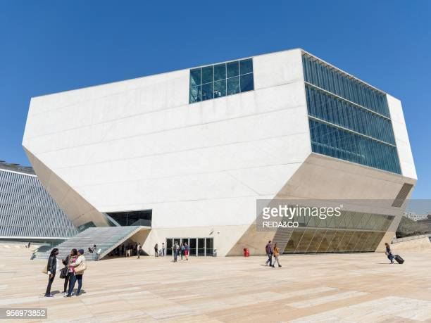Casa da Musica. The modern concert hall by architect Rem Koolhaas. City Porto at Rio Douro in the north of Portugal. The old town is listed as UNESCO...