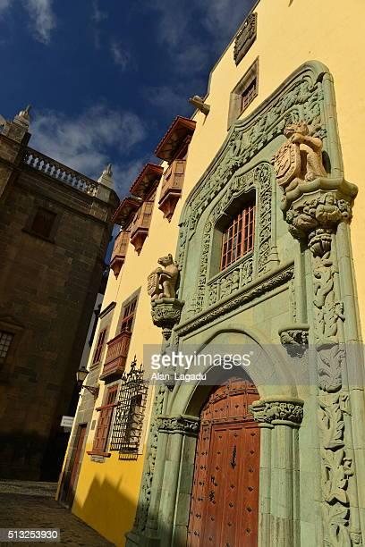 casa de colon, las palmas, gran canaria, spain. - casa stock pictures, royalty-free photos & images