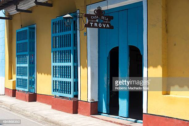 Casa de la Trova in Sancti Spiritus Cuba Considered as one of the oldest buildings of the town it is a local Trova House where the music played is a...
