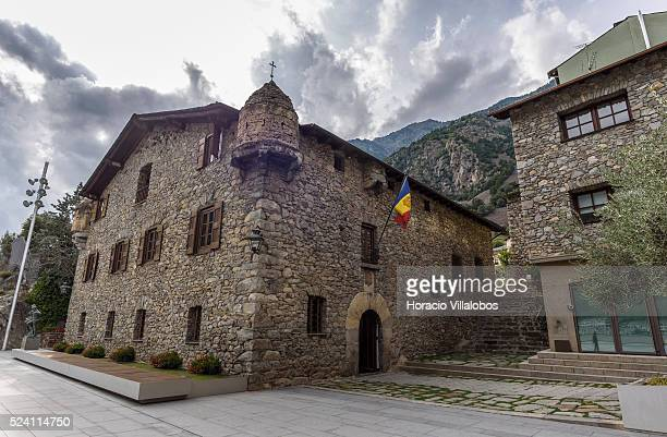 Casa de la Vall in the Old Quarter Andorra la Vella Andorra 02 September 2015 Casa de la Vall is a historical house in Andorra la Vella It is the...