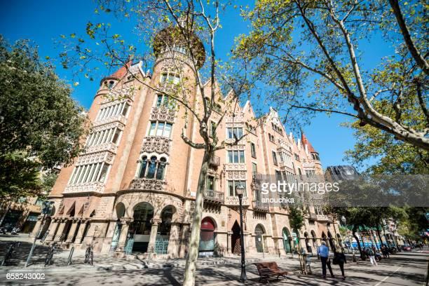 Casa de les Punxes, or Casa Terradas in Barcelona, Spain