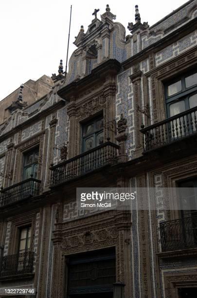 casa de los azulejos (house of tiles), mexico city, mexico - casa stockfoto's en -beelden