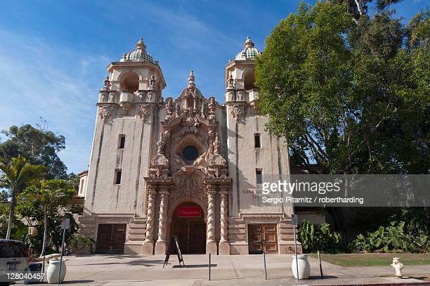 casa del prado, balboa park, san diego, california, united states of america, north america - balboa park stock photos and pictures