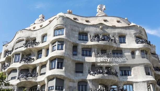 Casa Mila also known as La Pedrera designed by Antoni Gaudi