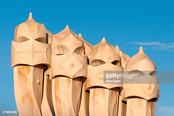 Casa Mila designed by Gaudi Barcelona Spain
