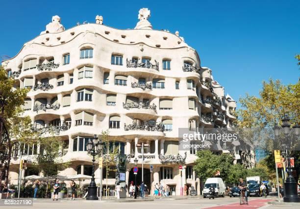 Casa Mila in Barcelona - apartment building designed by Antoni Gaudí