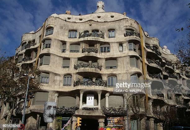 Casa Mila la Pedrera 19051912 architect Antoni Gaudi UNESCO World Heritage List Barcelona Catalonia Spain 20th century