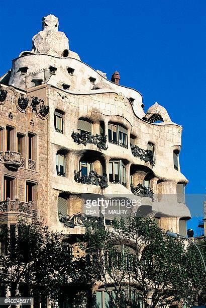 Casa Mila or La Pedrera 19051912 architect Antoni Gaudi Barcelona Catalonia Spain 20th century