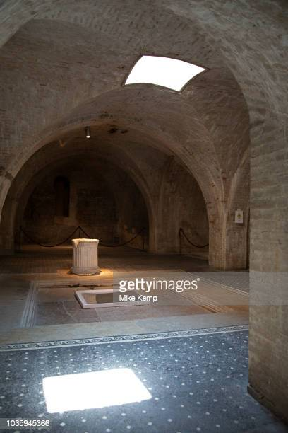 Casa Romana in Spoleto Umbria Italy This is a restored Roman house with mosaic floors indicating it was built in the 1st century and overlooked the...