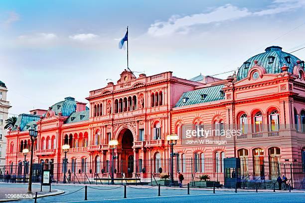casa rosada, (presidential palace) , - buenos aires stock pictures, royalty-free photos & images