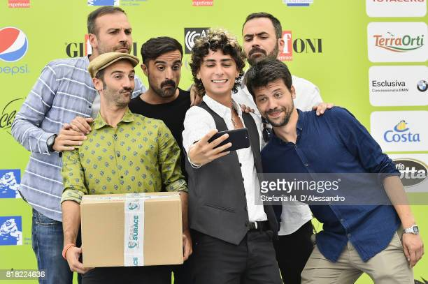 Casa Surace attend Giffoni Film Festival 2017 Day 5 Photocall on July 18 2017 in Giffoni Valle Piana Italy