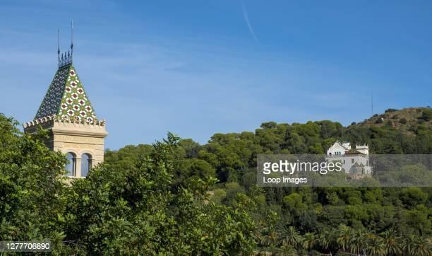 Casa Trias overlooking Gaudi's Park Guell.
