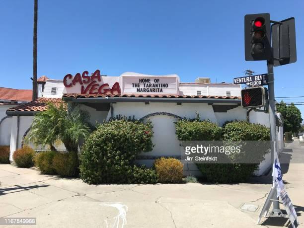 Casa Vega restaurant with Quentin Tarantino Margarita marquee in Sherman Oaks California on August 4 2019 Photo by Jim Steinfeldt/Michael Ochs...