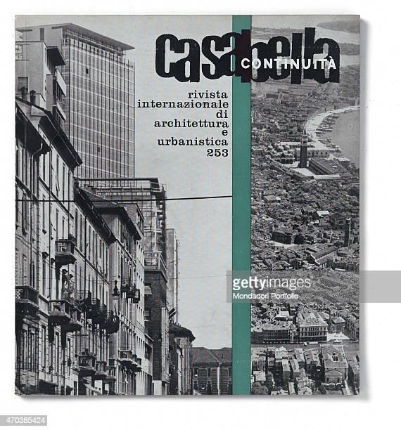 """Casabella, N. 253, July 1961, 20th century, Arnoldo Mondadori Editore, Milan, 28 x 31 cm. Whole artwork view. Two photographs separated by vertical..."