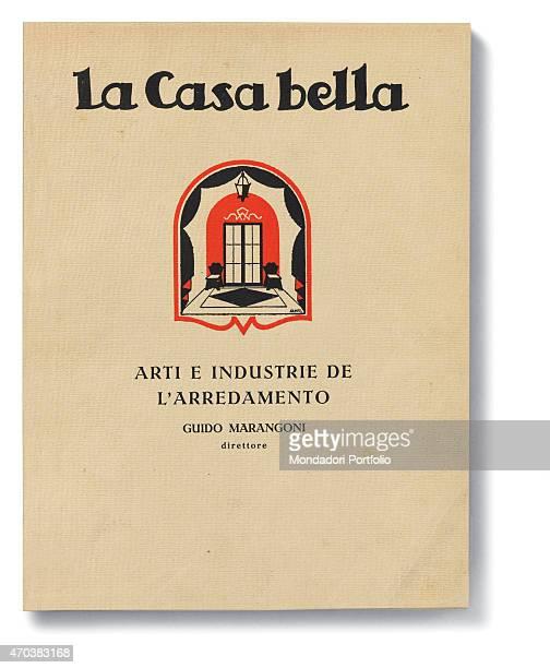 'Casabella No 1 January 1928 I 20th Century Arnoldo Mondadori Editore Milan 28 x 31 cm Whole artwork view On a white background an arch frames the...