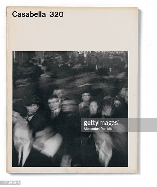 """""""Casabella, No. 320, November 1967, 20th century, Arnoldo Mondadori Editore, Milan, 24.5 x 31 cm. Whole artwork view. Faces in a moving crowd. """""""