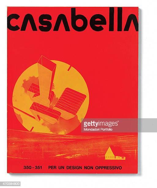 'Casabella No 350351 JulyAugust 20th century Arnoldo Mondadori Editore Milan 245 x 31 cm Whole artwork view Title in black on a red background with...