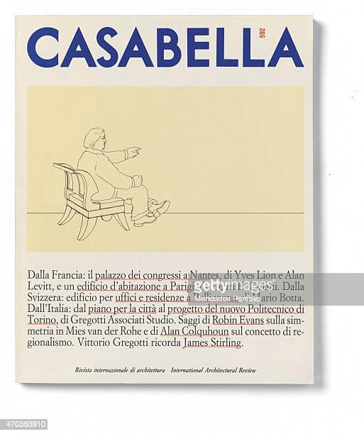 'Casabella No 592 JulyAugust 1992 20th Century Arnoldo Mondadori Editore Milan 28 x 31 cm Whole artwork view On a white background a comic with a man...