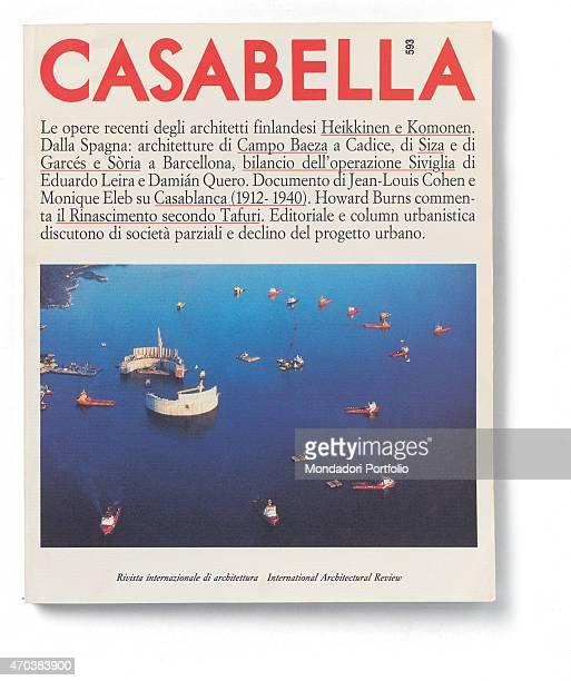 'Casabella No 593 September 1992 20th Century Arnoldo Mondadori Editore Milan 28 x 31 cm Whole artwork view View of a harbour full of ships '