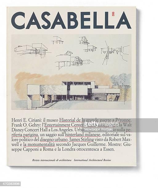'Casabella No 596 December 1992 20th Century Arnoldo Mondadori Editore Milan 28 x 31 cm Whole artwork view Drawings and projects of a bulding '