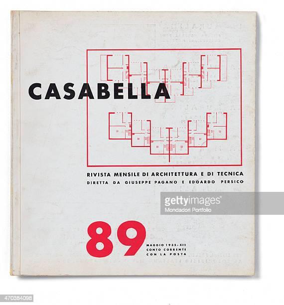 Casabella No 89 May 1935 XIII 20th Century Arnoldo Mondadori Editore Milan 28 x 31 cm Whole artwork view On a white background in a box the plan of a...
