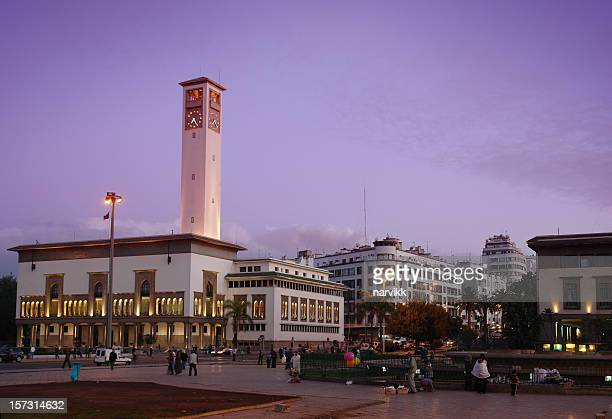 Casablanca by Evening, Square of Mohammed 5th, Morroco