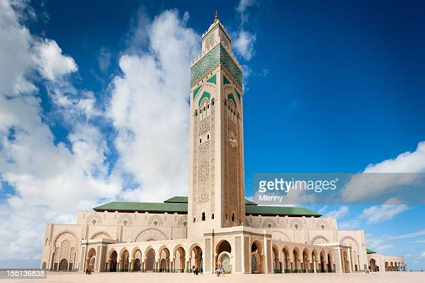 casablanca hassan ii mosque morocco - mosque hassan ii stock photos and pictures