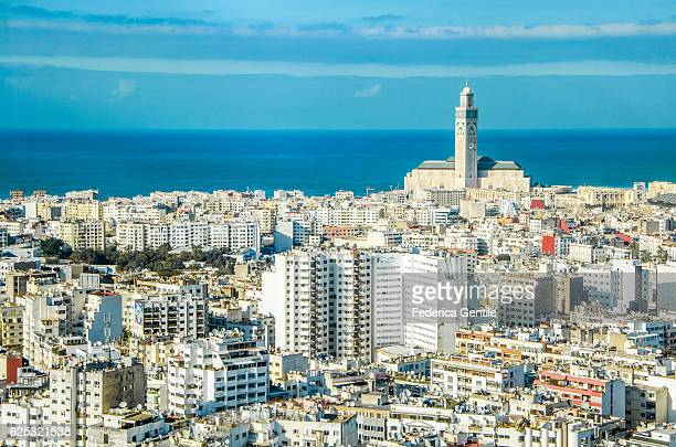 casablanca - mosque hassan ii stock photos and pictures