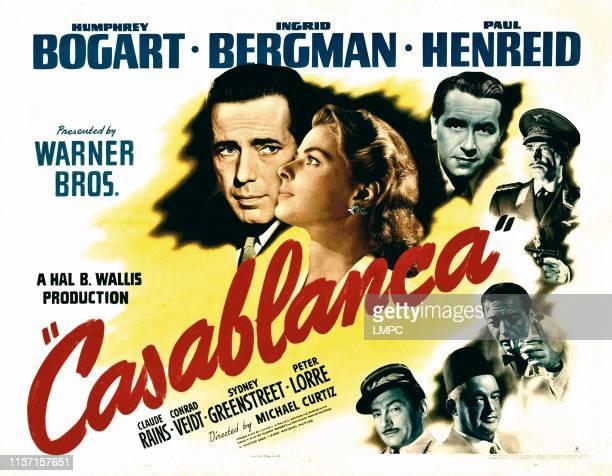 Casablanca, poster, , Humphrey Bogart, Ingrid Bergman, Paul Henreid, Conrad Veidt, Peter Lorre, Sydney Greenstreet, Claude Rains, 1942.