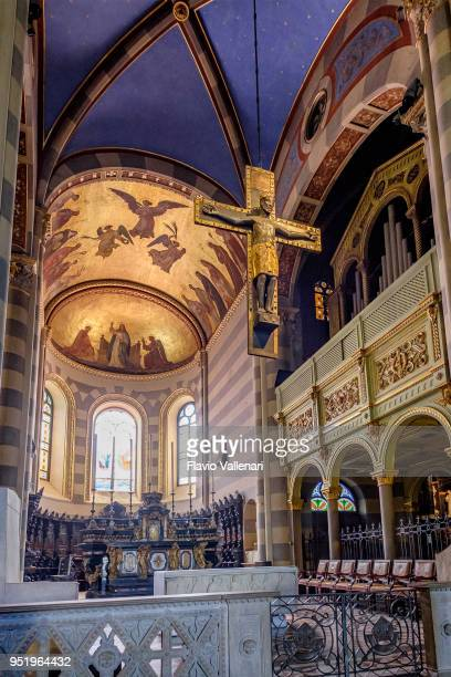 casale monferrato, the cathedral - italy - apse stock photos and pictures