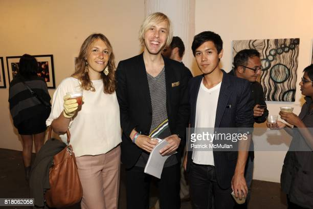 Casandra Jones Ben Olson and Andrew Heid attend An Endless Summer New Works by Anna Coroneo Curated by Anne Huntington at The Terminal Building on...