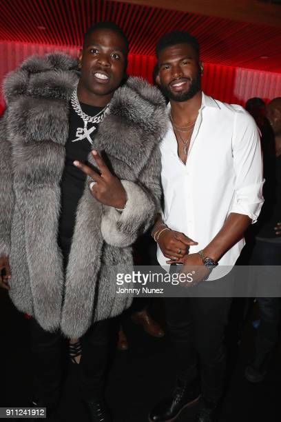 Casanova and Broderick Hunter attend The House Of Remy Martin Presents The Culture Creators PreGrammy Party at Megu New York on January 27 2018 in...