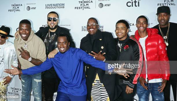 Casanova French Montana rapper/actor Sean Combs Mase Justin Dior Combs and Christian Casey Combs attend the world premiere of 'Can't Stop Won't Stop...