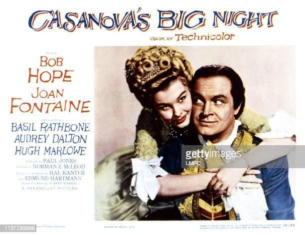 Casanova's Big Night lobbycard from left Audrey Dalton Bob Hope 1954