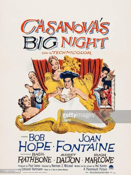Casanova's Big Night poster Joan Fontaine Bob Hope Audrey Dalton 1954