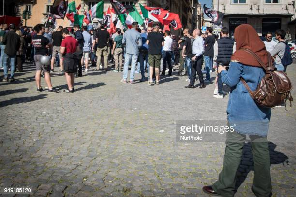 CasaPound has set up a garrison in Rome's Piazza Barberini, near the US Embassy, to protest against the bombing of Syria in recent days by the...