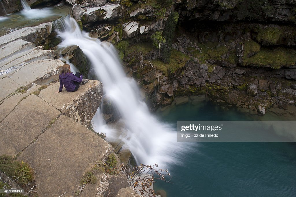 Cascada en Ordesa : Foto de stock
